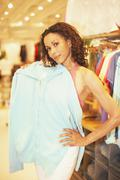 African woman clothing shopping Stock Photos