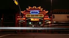 Stock Video Footage of Timelapse Chinatown gate