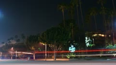 Timelapse Beverly Hills traffic Stock Footage