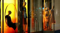 Timelapse fashion store Stock Footage