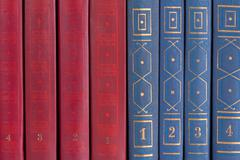the row of books - stock photo