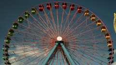 Timelapse ferris wheel Stock Footage