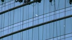 Timelapse window washers - stock footage