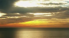 Timelapse Pacific Ocean sunset Stock Footage