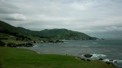 Timelapse coastal landscape Stock Footage