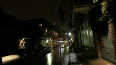 Timelapse French Quarters sidewalk - stock footage