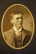 antique photograph, man - stock photo