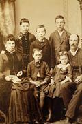 Antique family photo Stock Photos
