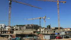 Construction site buildings Stock Footage