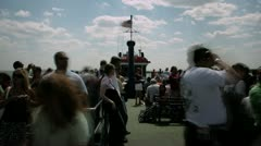 Timelapse ferry ride Stock Footage