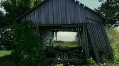 Timelapse farm barn Stock Footage