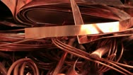 Stock Video Footage of copper cable recycling