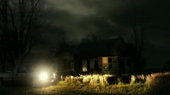 Timelapse haunted house Stock Footage