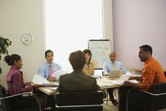Monietnisen liikemiesten kokouksessa Kuvituskuvat