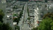 Timelapse Lombard Avenue Stock Footage