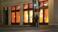 Timelapse street musician Stock Footage