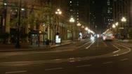 Timelapse Market Street traffic Stock Footage