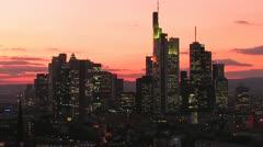 Frankfurt Skyline Stock Footage