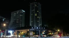 Timelapse Orchard Road traffic Stock Footage