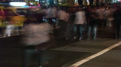 Timelapse Orchard Road crosswalk Stock Footage