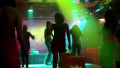 Dance party at a nightclub Stock Footage
