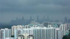 Timelapse Singapore skyline Stock Footage