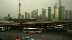 Timelapse Pudong skyline Stock Footage