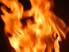 Flames close up slow motion Stock Footage