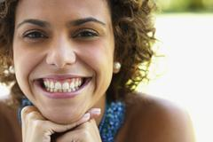 Close up of South American woman smiling Stock Photos