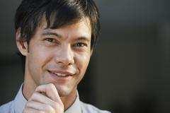 Stock Photo of Close up of South American man smiling