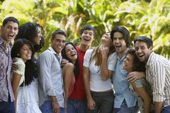 South American friends laughing Stock Photos