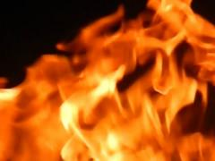 Slow motion, fire. Stock Footage