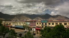 Timelapse Lhasa shops Stock Footage