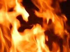 Flames in slow motion Stock Footage