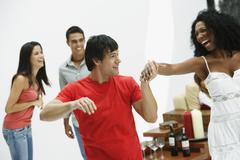 South American couple dancing at party Stock Photos
