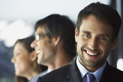Stock Photo of South American businesspeople laughing