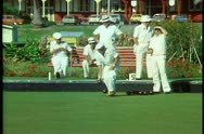 Stock Video Footage of Lawn bowling, Rotorua, New Zealand, medium shot