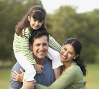 Portrait of Hispanic family Stock Photos