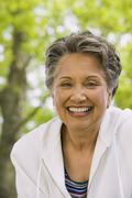Portrait of senior African American woman - stock photo
