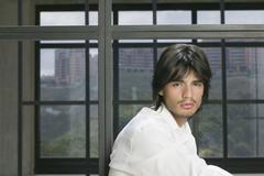 Portrait of Hispanic man Stock Photos