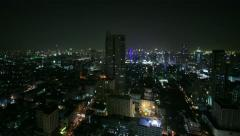 Bangkok at night, time lapse  - total shot Stock Footage