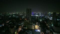 Bangkok at night, time lapse  - total shot - stock footage