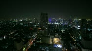 Stock Video Footage of Bangkok at night, time lapse  - total shot