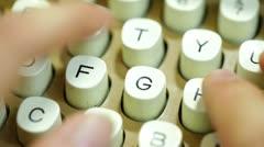 Type type writer typewriter writing typing Stock Footage