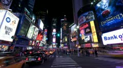 New York Times Square, time lapse - tilt up - stock footage