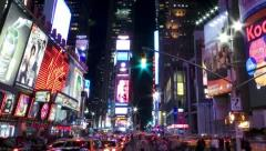 New York Times Square, time lapse - zoom out Stock Footage