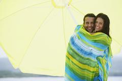 South American couple at beach Stock Photos