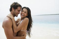 South American couple hugging Stock Photos