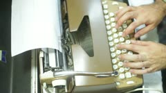 Type type writer typewriter writing Stock Footage
