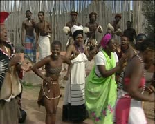 African women chanting and singing Stock Footage